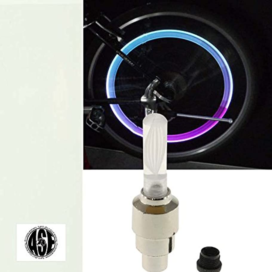 濃度危機名詞自転車タイヤバルブキャップLEDライトRGB1個 動くと光る as20026