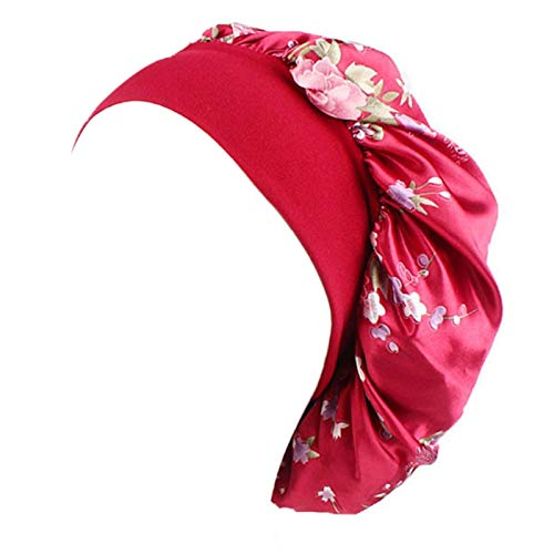 Aawsome - Gorro para mujer, diseño floral, color rojo
