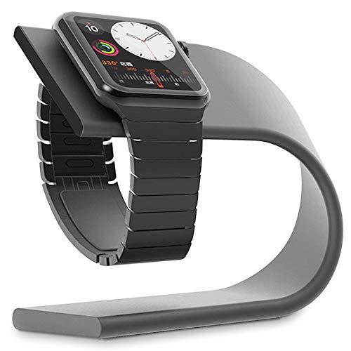 Apple Watch 充電 スタンド Curvy Continuum アップルウォッチ スマートウォッチ 充電ホルダー ケーブル傷...