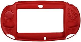 OSTENT Capa protetora de silicone macia compatível com Sony PS Vita PSV PCH-2000 - Cor vermelha