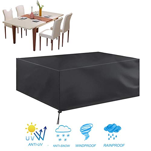GZHENH-Rattan Furniture Covers ,Furniture Dust Cover Mechanical Equipment Rain Cover Outdoor Sun Protection Windproof Pumpkin Festival Gift,customizable (Color : Black, Size : 200x200x100cm)