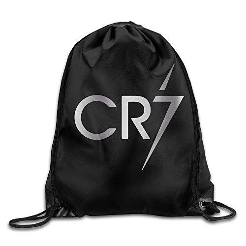 DSGFSQ Sporttaschen Turnbeutel Outdoor Cristiano Ronaldo CR7 Logo Platinum Style Drawstring Backpack