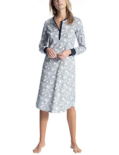 CALIDA Damen Cosy Dreams Nachthemd, Blau (Peacoat Blue 488), Small (Herstellergröße: S)