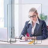 SZYW Protector Protector contra estornudos, Protector de plexiglás acrílico Transparente Divisor de Escritorio...