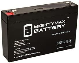 Batteria Ermetica Ricaricabile al Piombo 6V Volt 7Ah con connettore faston ideale per UPS sistemi di sicurezza Peg Perego giochi giocattoli lampada di emergenza