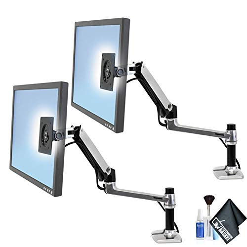 Ergotron 45-241-026 LX Desk Mount LCD Arm - 2 Pack with Essential Accessories