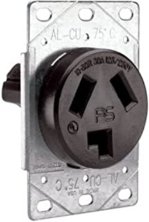 Legrand - Pass & Seymour 3860CC6 Flush Outlet 30-Amp 125-volt/250-volt Three Pole Three Wire,Black