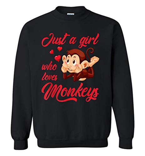 Situen Who Loves Monkeys Cute Monkey Gift Sweatshirt for Men and Woman