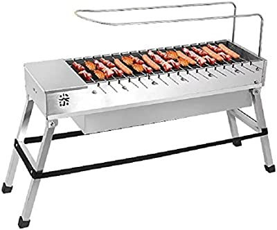 Amazon.com: Spark4grill Automatic Rotating Charcoal BBQ Grill Barbecue  Stainless Steel(Complete Set): Garden & Outdoor