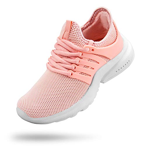 Troadlop Girls Sneakers Mesh Slip On Gym Athletic Shoes for Girls Pink Size 3 M US Big Kid