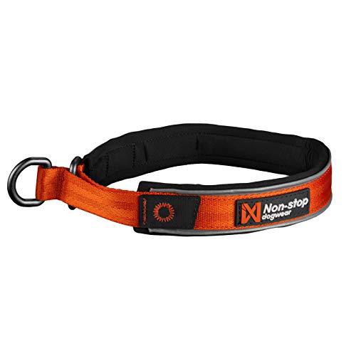 Non-stop dogwear Cruise Collar orange | Halsband mit Zugstopp - Das Bequeme, Größe:XS