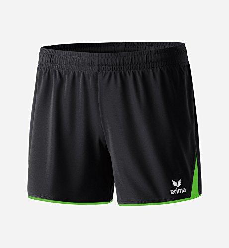 Erima Damen Classic 5-C Shorts, schwarz/green gecko, 38
