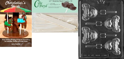 Fantastic Deal! Cybrtrayd 45St50Bk-K104 'Little Girl Lolly' Kids Chocolate Candy Mold with 50 4.5-In...