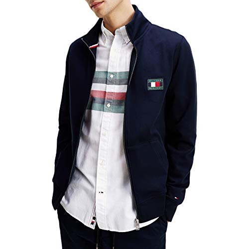 Tommy Hilfiger Herren Sweatjacke Icon Essentials Zip Through Desert Sky dunkelblau - XL