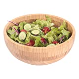 Bamboo wood salad bowls,Serving Bowl for Fruits or Salads,Natural Organic Bamboo Serving Dish...