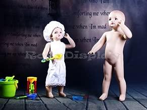 (MZ-ANN4) ROXYDISPLAY™ Realistic Child Mannequin. Toddler Standing Pose. Fiberglass Construction. Fleshtone Color.