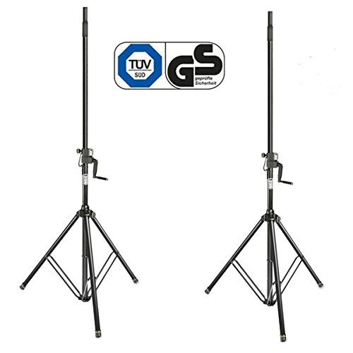Gravity SP 4722 B Heavy Duty Steel Wind Up 35mm Statief PA Speaker Stand (Paar)