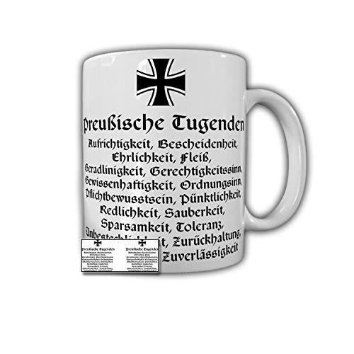Preußen Tugend Aufrichtigkeit Bescheidenheit Coffee Tea Cup - Tasse #27178
