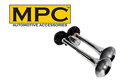 MPC Truck Air Horns Super Loud Dual Horn Fits Behind Grille