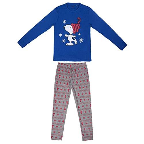 ARTESANIA CERDA Damen Largo Snoopy Zweiteiliger Schlafanzug, Blau (Blau 37), 38