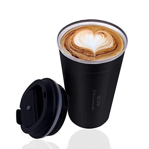 XCSW- Taza de café , Térmica de Doble Pared, Aislado al Vacío...