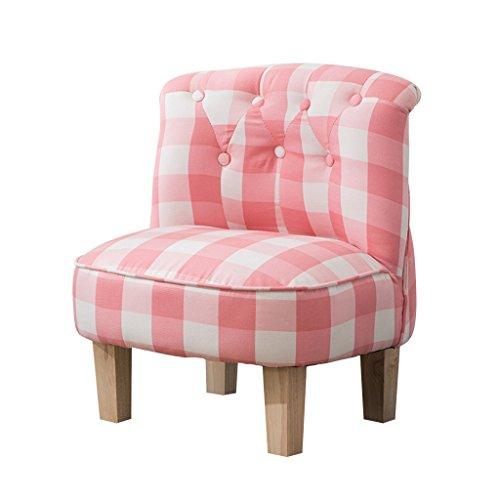 LNNZPL Infantil pequeño sofá sofá Perezoso Simple Asiento Moderna habitación de los niños de Lectura cómodo Taburete Luz Mini Sofá sofá Perezoso (Color : Pink)
