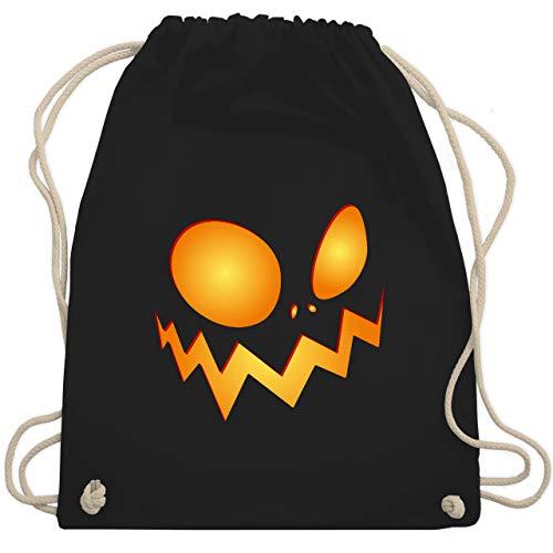 Shirtracer Halloween - Kürbisgesicht groß Pumpkin - Unisize - Schwarz - halloween kostüm vampir damen - WM110 - Turnbeutel und Stoffbeutel aus Baumwolle
