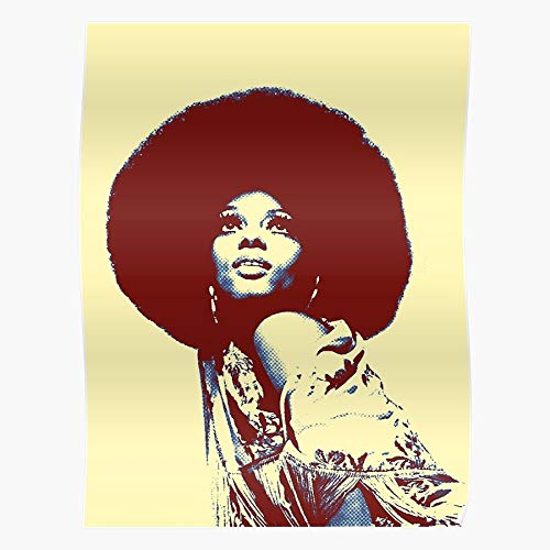 Wemoto Diana 70S Afro Dosco Ross Retro Impressive Posters for Room Decoration Printed with The Latest Modern Technology on semi-Glossy Paper Background