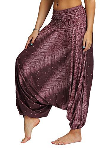 APig Pantalones Bombacho Mujer, Harén Pantalón Chandal árabe Pantalones de Yoga Pantalones Deportivos Harem Pantalón (No.19)
