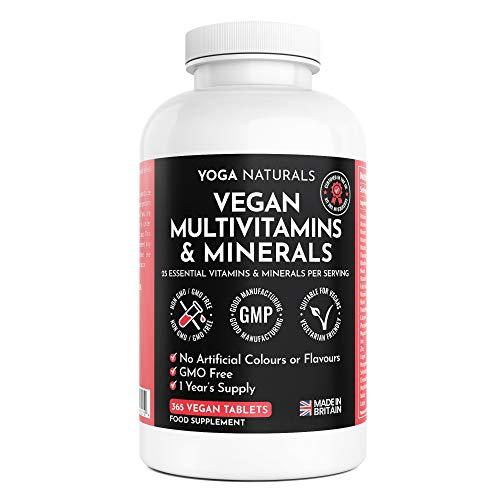 Multivitamins & Minerals - 365 Vegan Multivitamin Tablets - 1 Year Supply -...