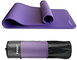 Innoo Tech Yoga Mat, 10mm Thick Exercise Yoga Mat Non-Slip Exercise Mat with Carry Bag, Workout Mat for Yoga, Pilates,...