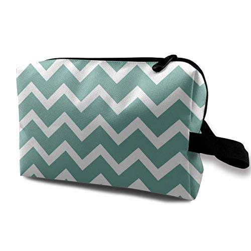 Hdadwy Cosmetic Bag Portable Handbag Chevron Briefcase Sleeve Travel Toiletry Pouch Small Makeup Bags Case Organizer