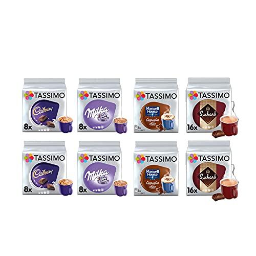 Tassimo Hot Choc/Cappucino Selection – Cadbury Hot Chocolate/Maxwell House Capp/Milka Hot Chocolate/Suchard Hot Chocolate Pods – 8 Packungen (80 Portionen)