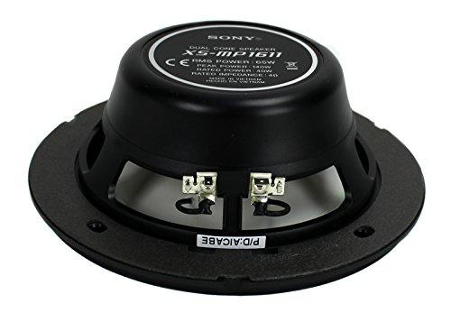 "Sony XS-MP1611 6.5"" RMS 65 Watt Dual Cone Marine Speakers Stereo 4 ohm, White"