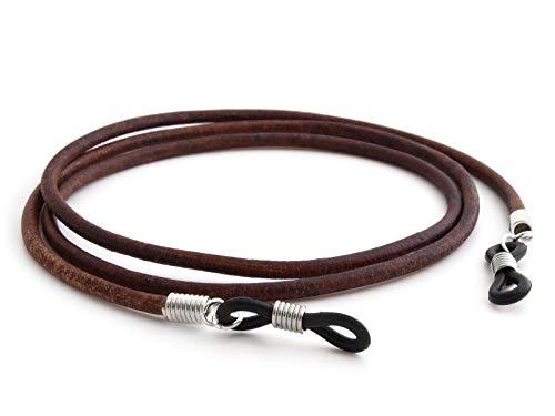 GAWK Eyewear 100% Genuine Leather Glasses Cord Spectacle Lanyard (Brown)