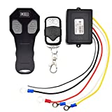 Riyiter Wireless Winch Remote Control Kit DC12V 433MHZ Waterproof Switch Handset for Truck Jeep ATV SUV Auto Winch with Indicator Light