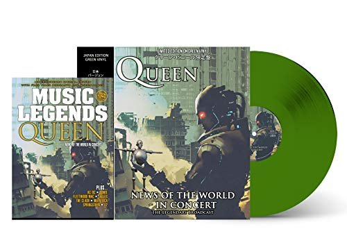QUEEN: NEWS OF THE WORLD IN CONCERT - GREEN VINYL - MAGAZINE SPECIAL LIMITED EDITION BUNDLE