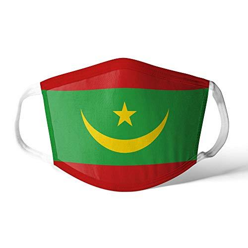 M&schutz Maske Stoffmaske Klein Afrika Flagge Mauretanien Wiederverwendbar Waschbar Weiches Baumwollgefühl Polyester Fabrik