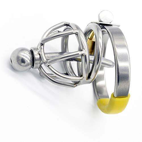CJWWEI Männlicher Edelstahl-Skorpion mit Katheter-Katheter-Hahn-Käfig-Penis-Verschluss-Geschlecht spielt das Flirten des glücklichen Freude-Gerätes JJ-Käfigs (Size : 5.2cm)
