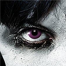 Leo Eyes Funlinsen 3-Monatslinse Purple Gothic, Lila, The Walking Dead White Zombie Kontaktlinsen Crazy Funlinsen Halloween Fastnacht Twilight Dracula Zombie Catwoman