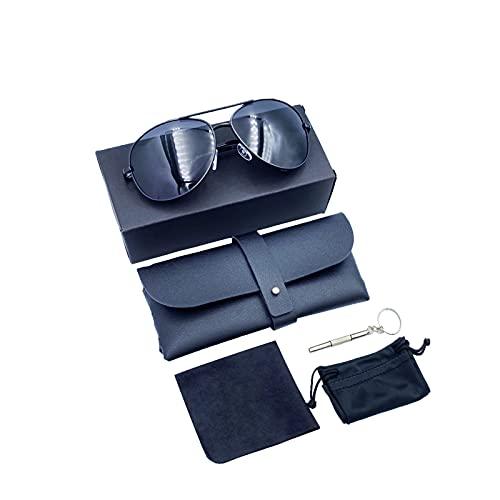 RUOROSS Polarisierte Pilotenbrille für Herren und Damen UV400-Schutz, verspiegeltes Glas
