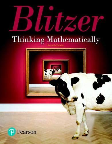 Thinking Mathematically (7th Edition)