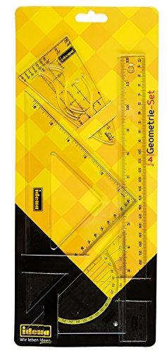 Idena 602202 - Geo-Set 4-teilig, 30 cm mit Parabel