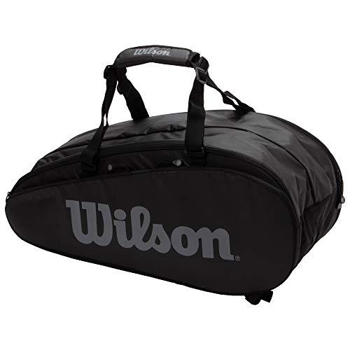 Wilson(ウイルソン) テニス バドミントン ラケットバッグ TOUR 2 COMP LARGE(ツアー2コンプラージ) ラケット9本収納可能 ブラック/グレー WRZ849309 ウィルソン