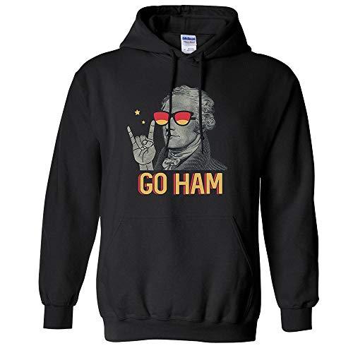 Go Ham Alexander Hamilton Funny Hoodie Sweatshirt Unisex Medium Black