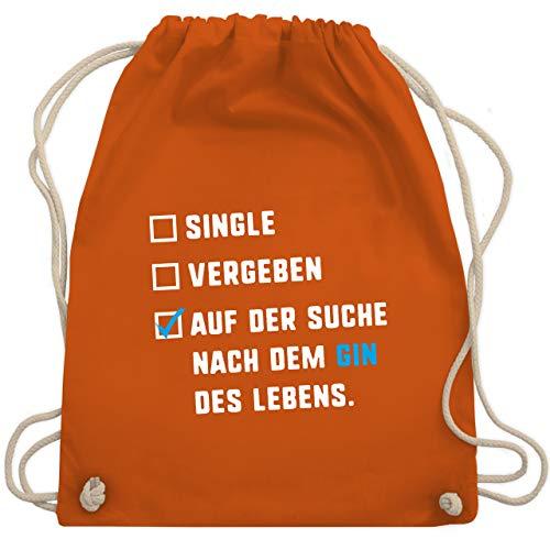 Festival Turnbeutel - Single Vergeben Gin des Lebens - Unisize - Orange - gin tasche - WM110 - Turnbeutel und Stoffbeutel aus Baumwolle