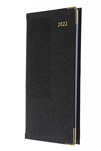 Collins Business Slimchart Week to View with Appointments Portrait 2022 Diary – Black