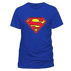 Classic Blue Superman Logo T-shirt for Men