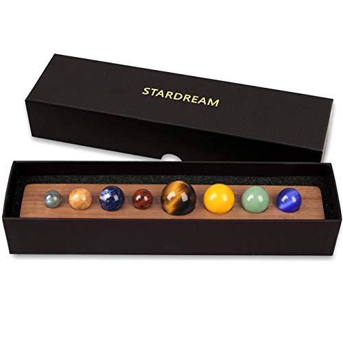 Tong Yue, Schreibtisch-Planeten, handgefertigte natürliche Edelsteine, himmlisch kreatives Geschenk, Heimdekoration