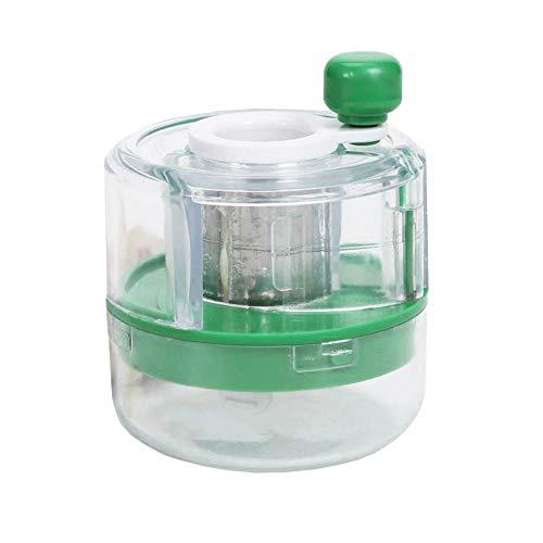 TARTIERY - Juego de Herramientas para Cortar ajos y ajos, con Recipiente de Almacenamiento, prensador de ajos y Cortador de ajos, Color Verde